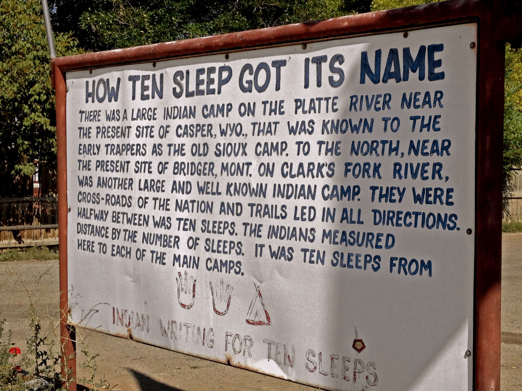 Story of how Ten Sleep got it's Indian Name