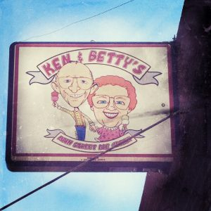 Ken and Betty's Ice Cream Sign