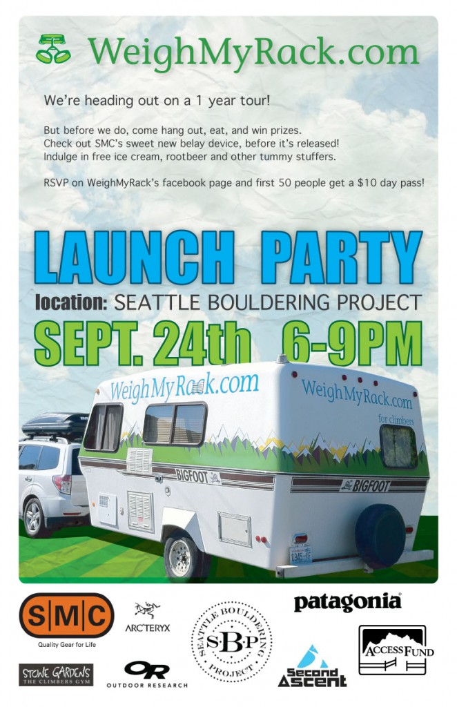 WeighMyRack Launch Party Poster