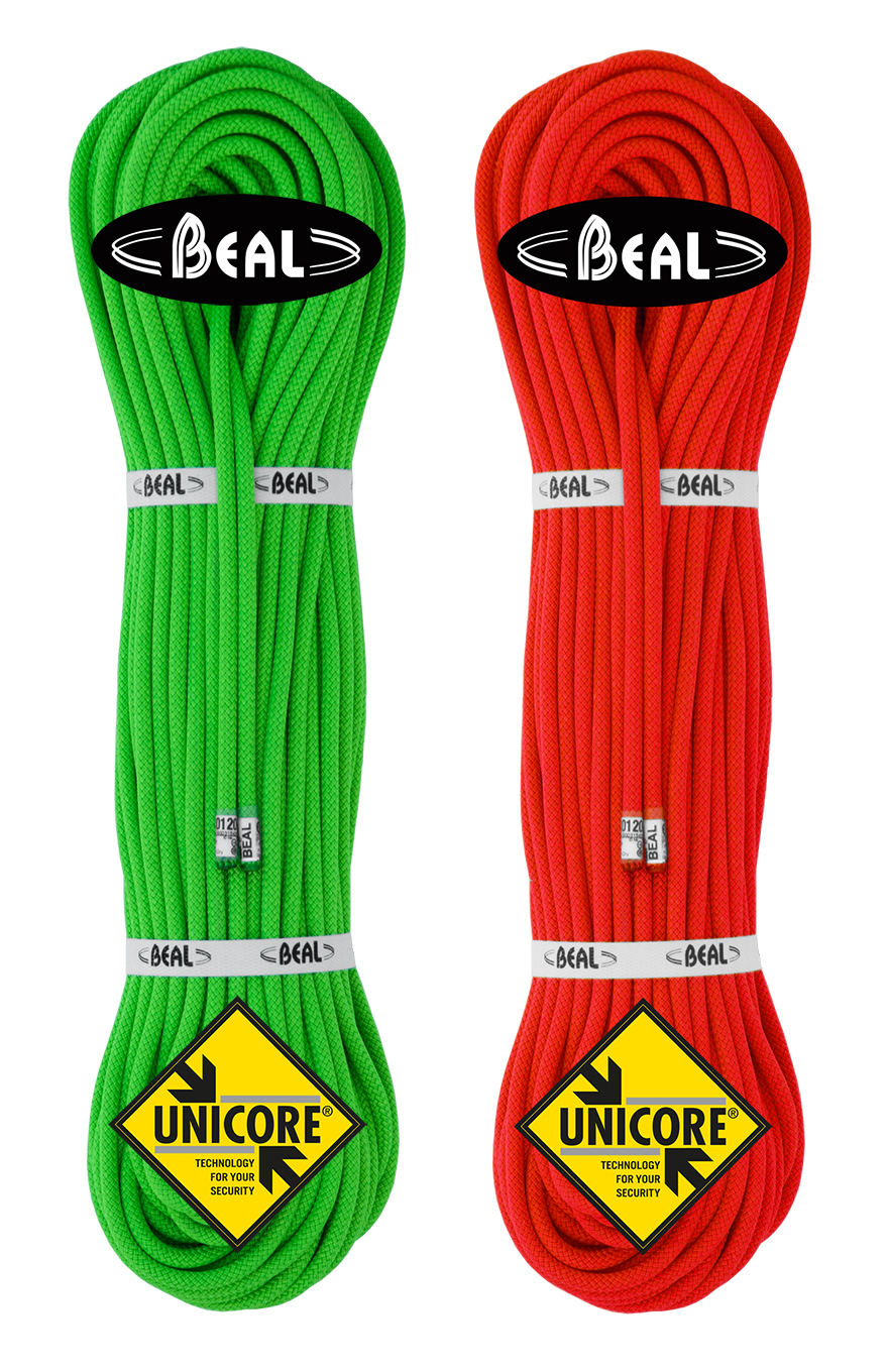 Weighing only 36 g per metre, the GULLY 7.3 is the lightest double rope on the market. Source: . Credit: Beal .