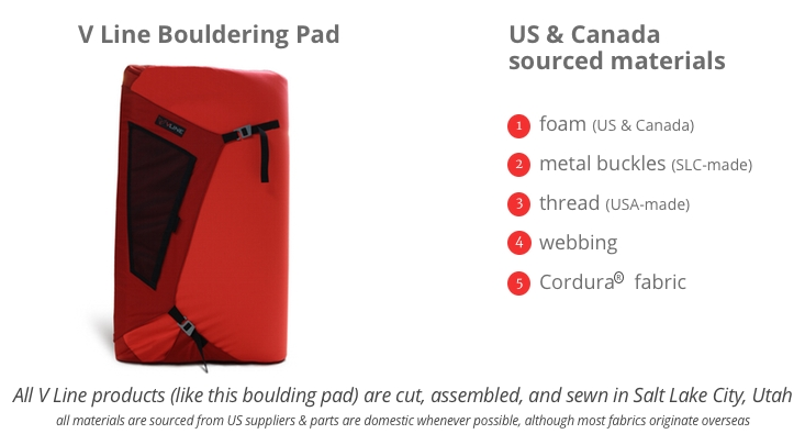 V Line US and Canada Sourced Bouldering Pad