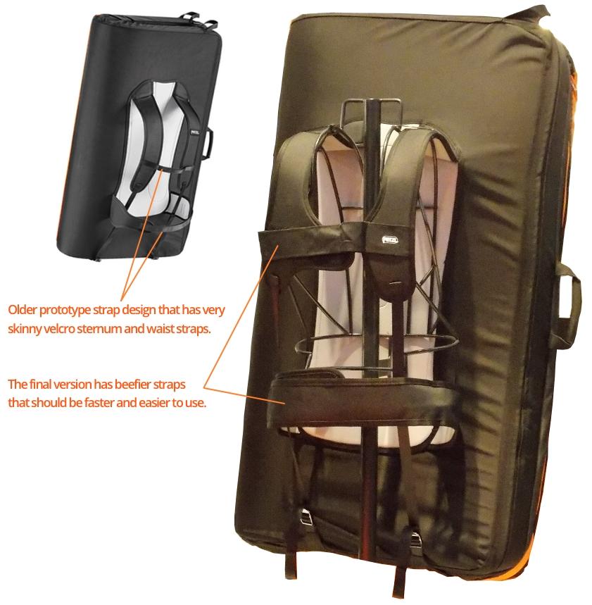 Petzl Pad Backpack Straps comparison