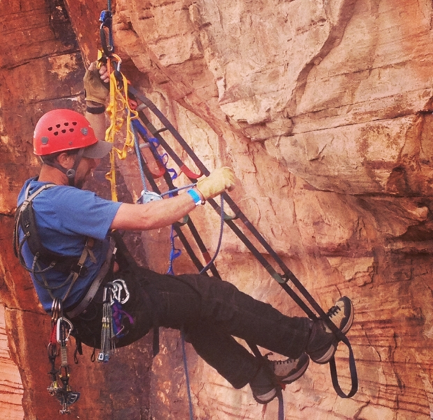 Ammon McNeely Aid Climbing Red Rock Rendezvous
