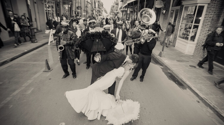 Second Line New Orleans Wedding Parade