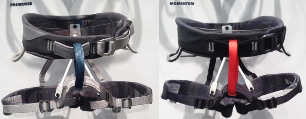 Black Diamond Primrose and Momentum Harness