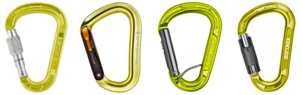 Pear HMS shaped carabiners
