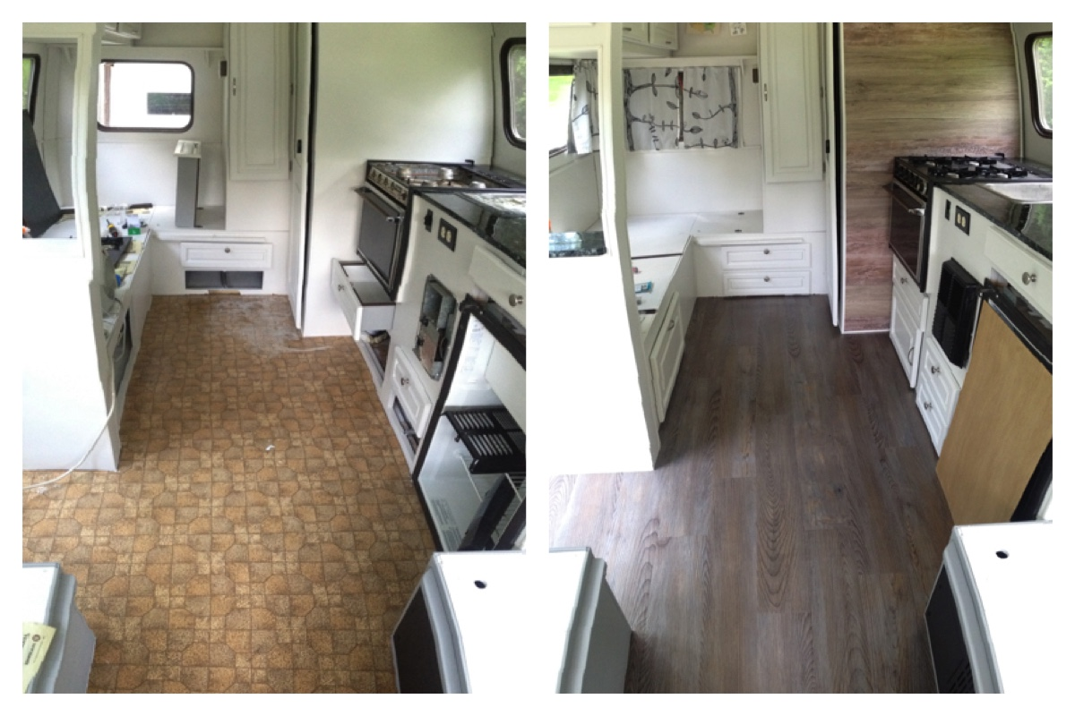 Flooring before after