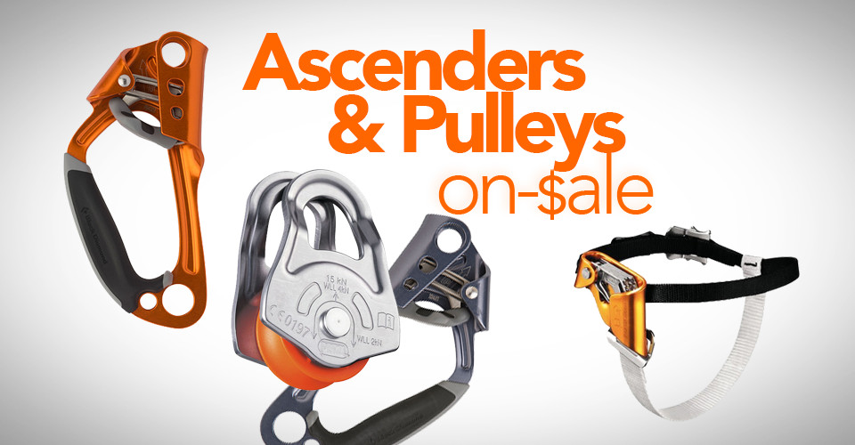 Ascenders and Pulleys On Sale RIght Now