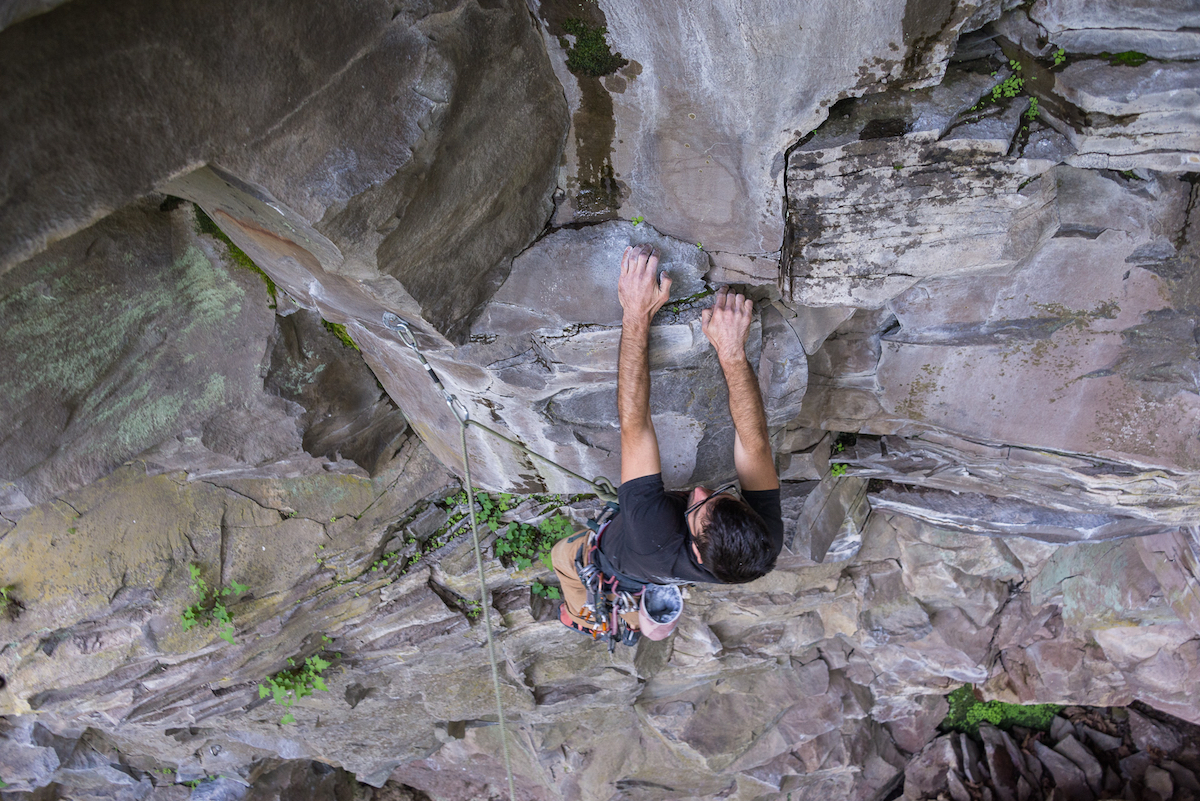 Sean Climbing with Dura Draw