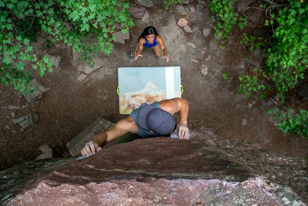Kyle Climbing Kush Pad Kim Spotter