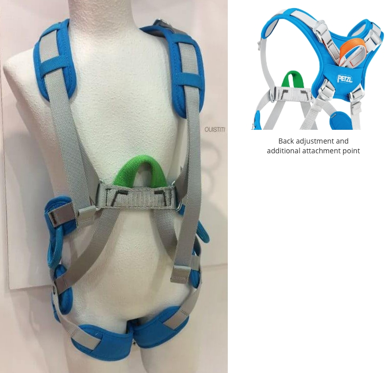 Petzl Ouistiti harness front back