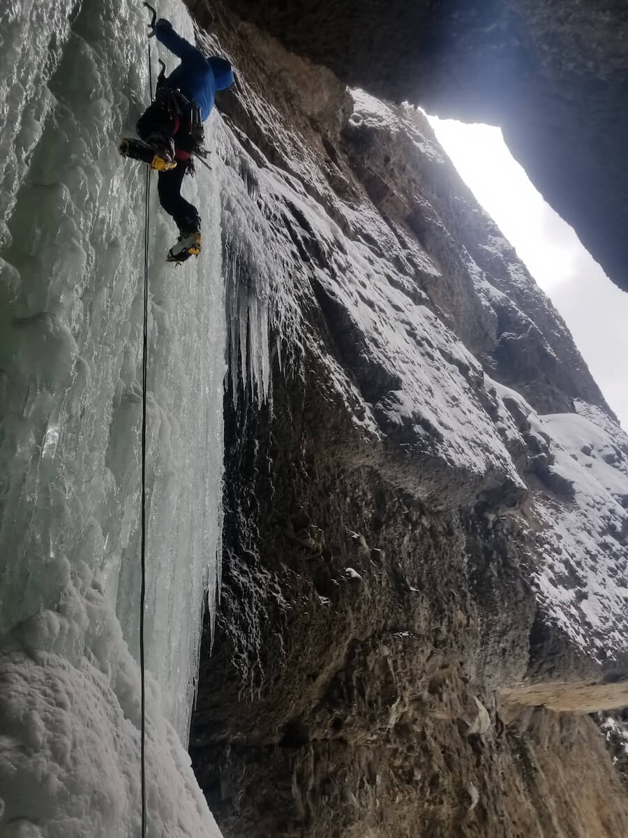Second accent of Morning Wood WI4 in Yellowstone National Park. Photo Credit_ Ian Bailey