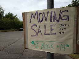 We moved out of our house and had a big yard sale