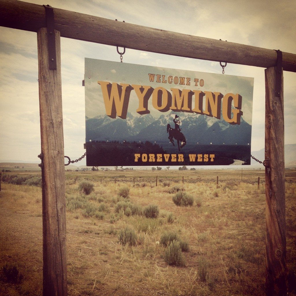 Welcome to Wyoming State Sign