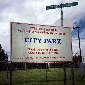 Lander City Park Sign