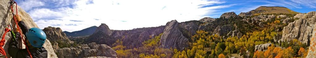 City of Rocks Climbing Panorama