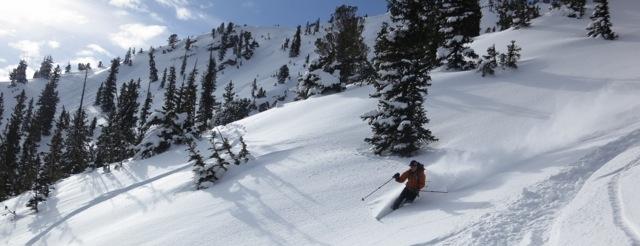 Black Diamond Employee Skiing