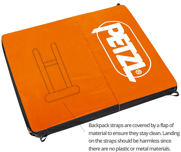 Petzl Cirro Open with backpack straps