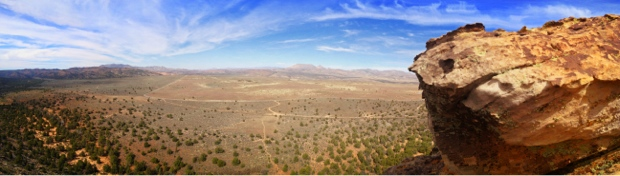 Panorama from the top of Prophesy Wall in St. George, Utah