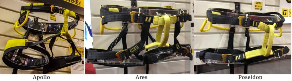 Grivel Harnesses Apollo Ares Poisidon