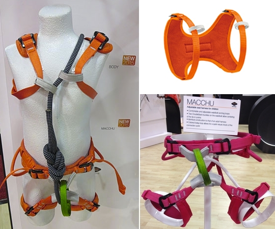 Petzl Macchu and Body Kids Harness