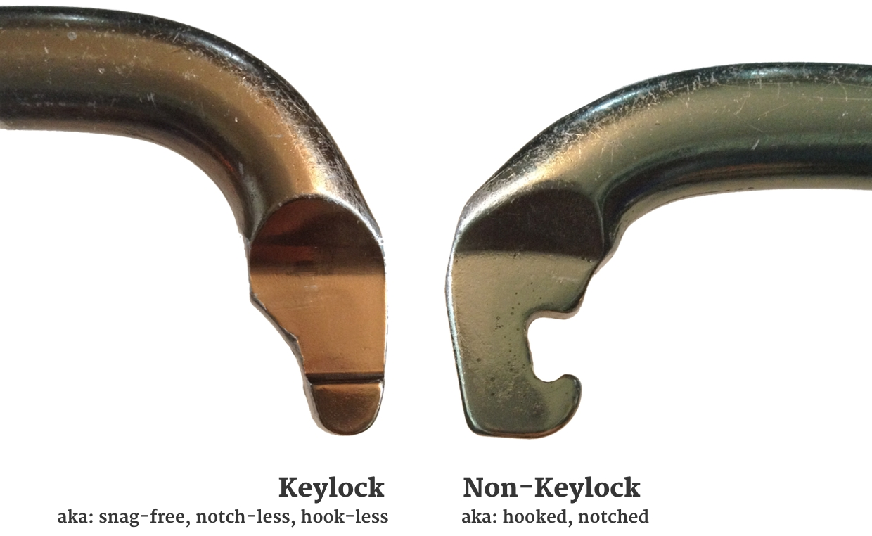 keylock nose or hooked nose