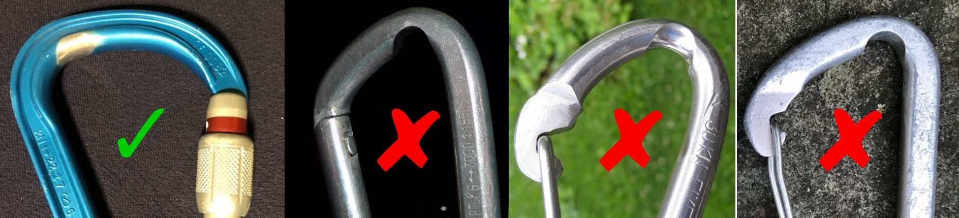 worn carabiner examples