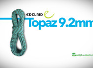 Edelrid's 9.2mm Topaz Rope, with a surprise for the consumer
