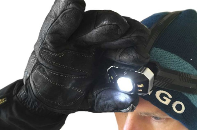 Black Diamond Icon headlamp with gloves