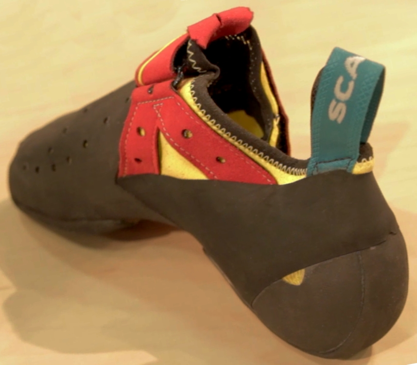Scarpa Drago backside climbing shoe