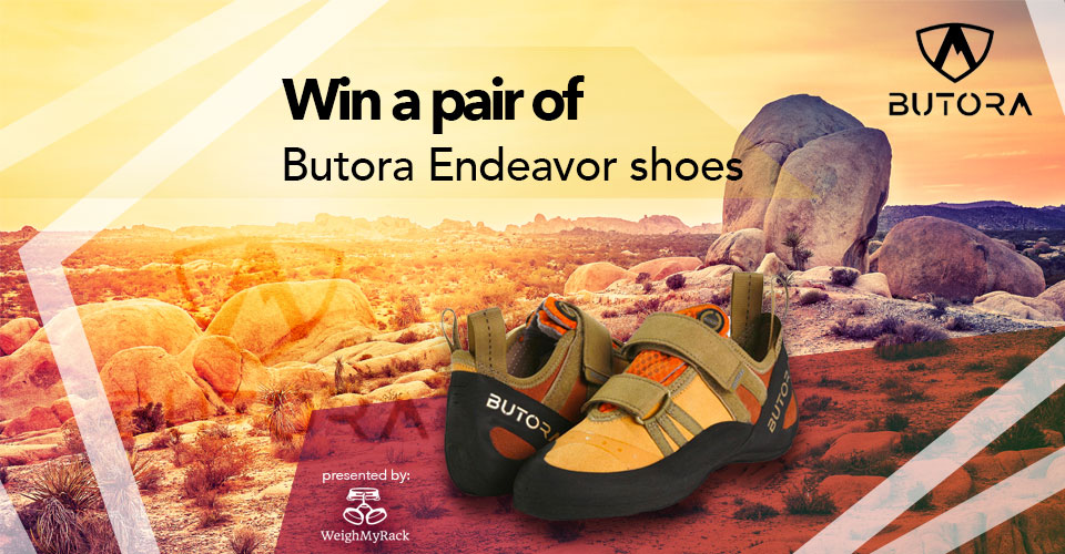 Win a pair of Butora Endeavor climbing shoes