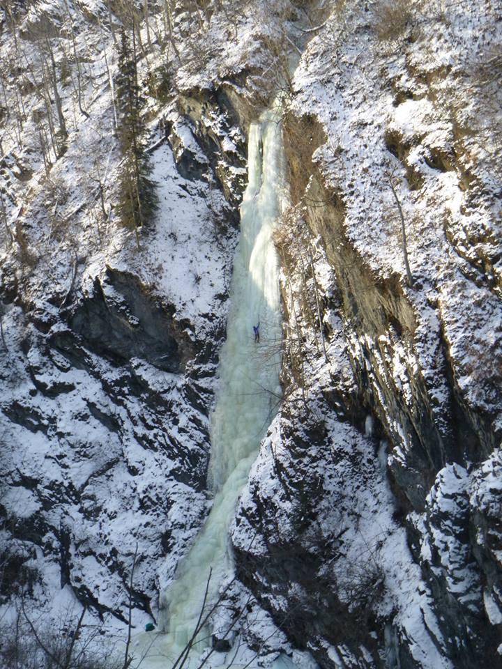 Lost Chord, a beautiful WI4 line in Hunters Creek, Alaska.