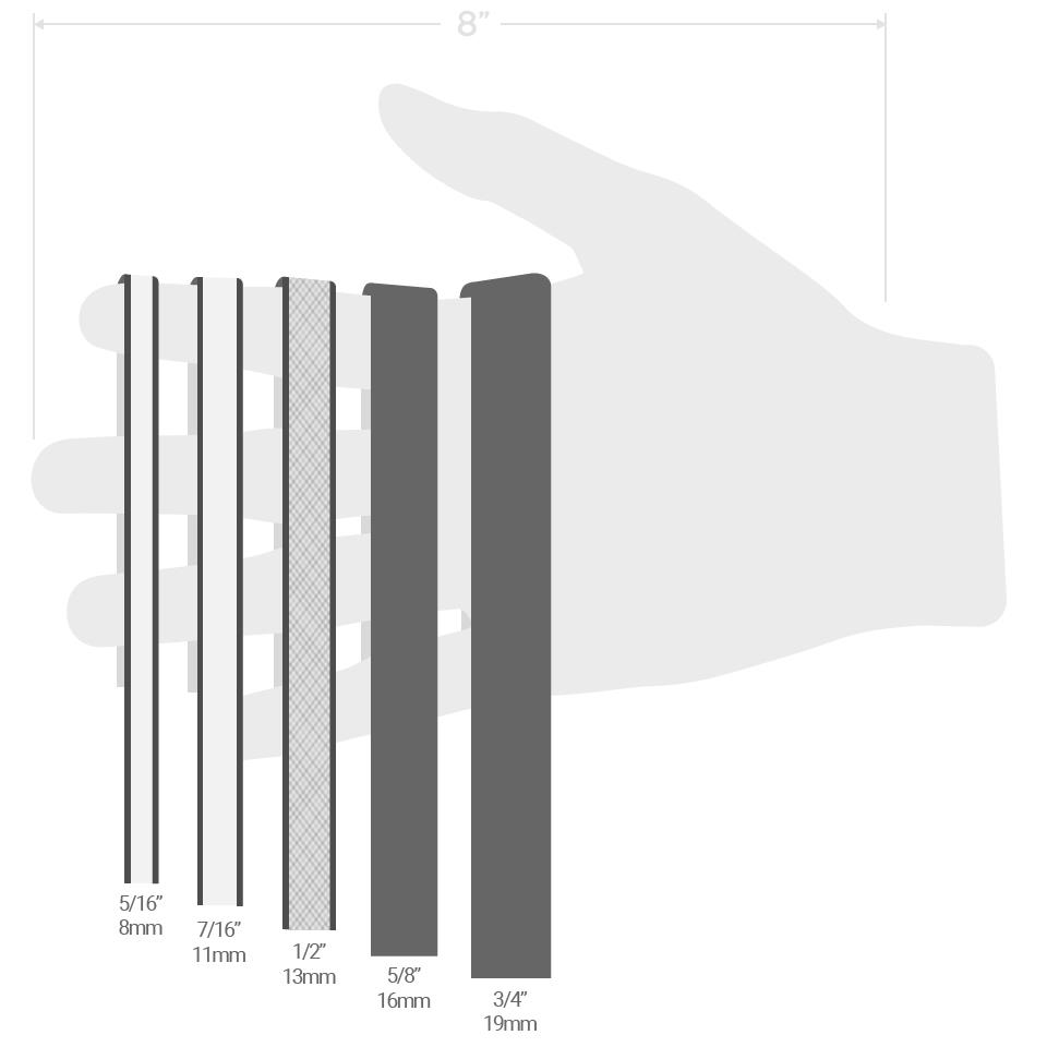 sling width comparison with hand