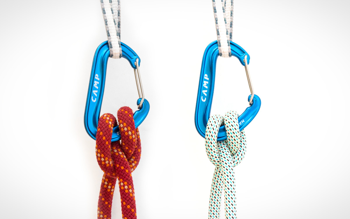 Clove hitch comparison with 10.2mm rope and 8.6mm rope