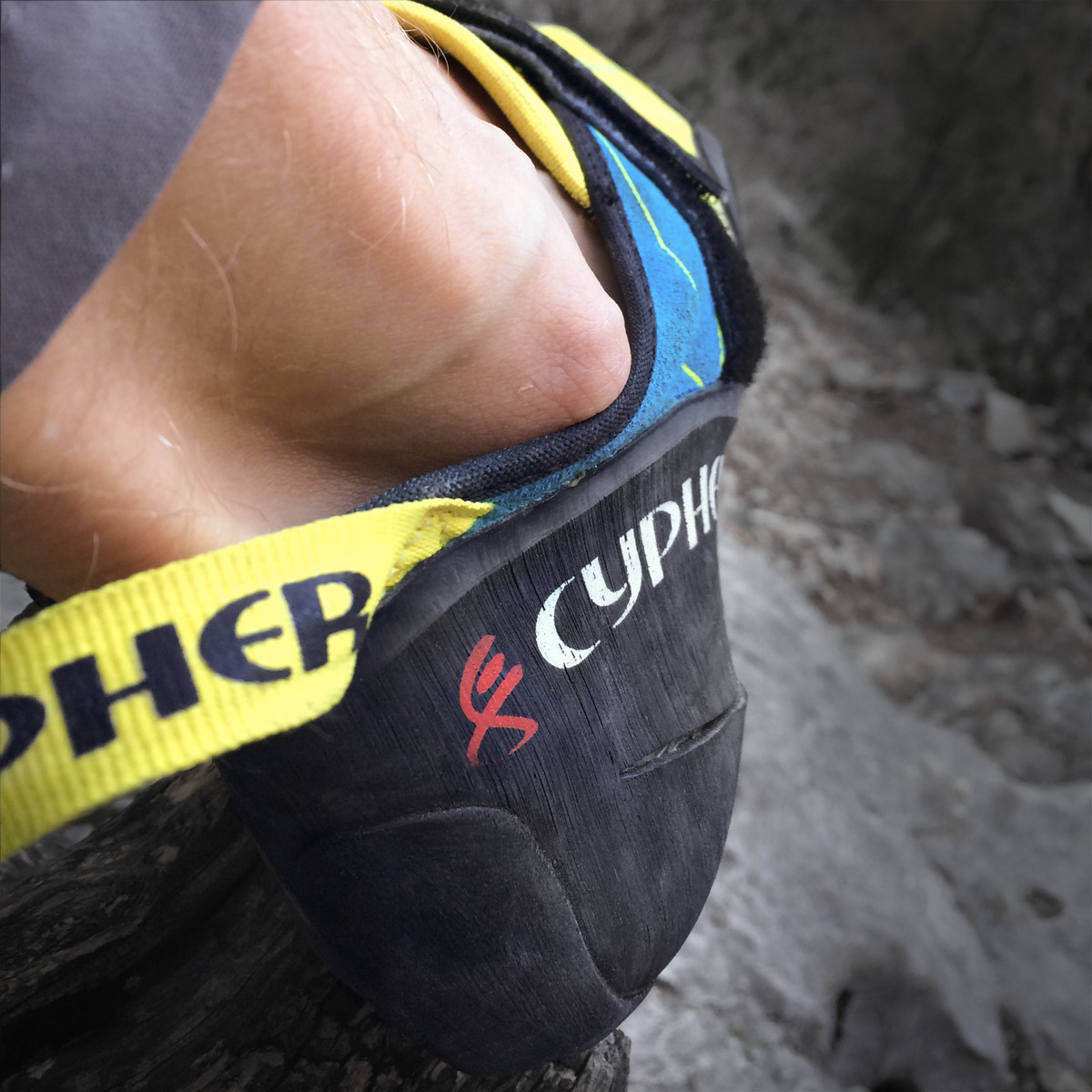 Upper digging into my scrawny ankles - a problem I have with most climbing shoes