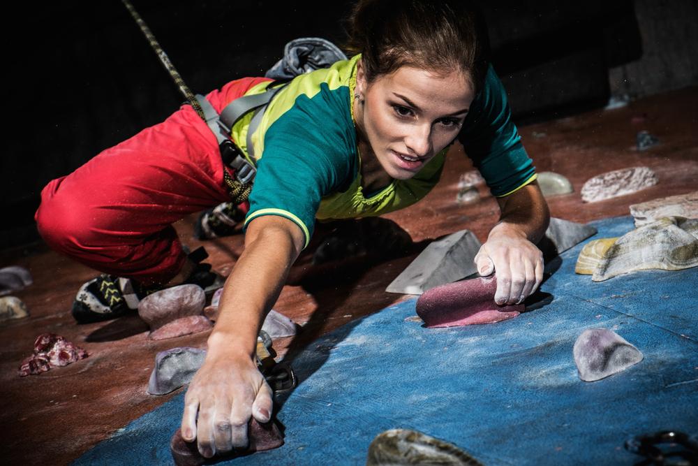 lady gym climber