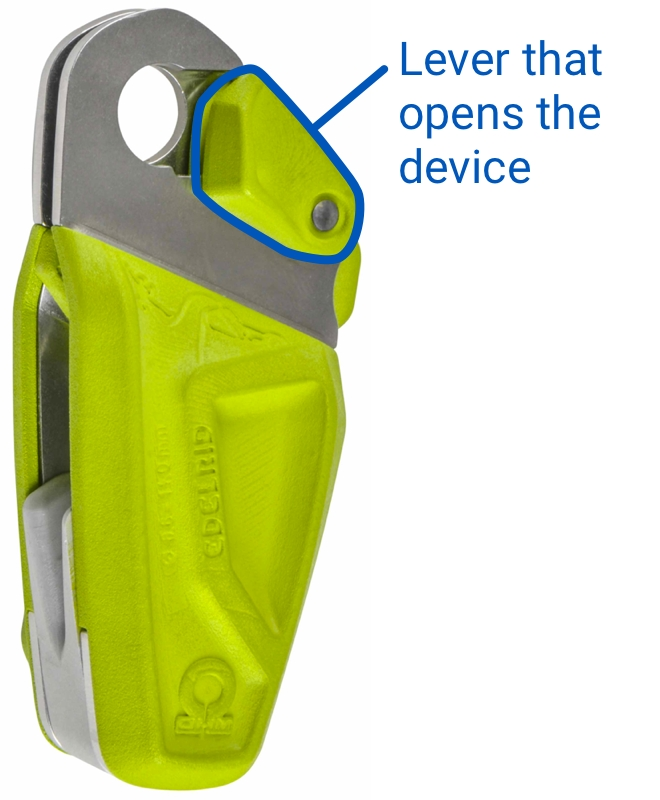 Edelrid Ohm - Lever that opens