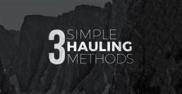 3 simple hauling methods