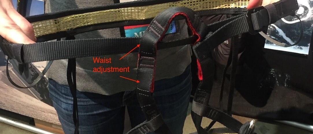 Grivel Mistral Harness waist adjust
