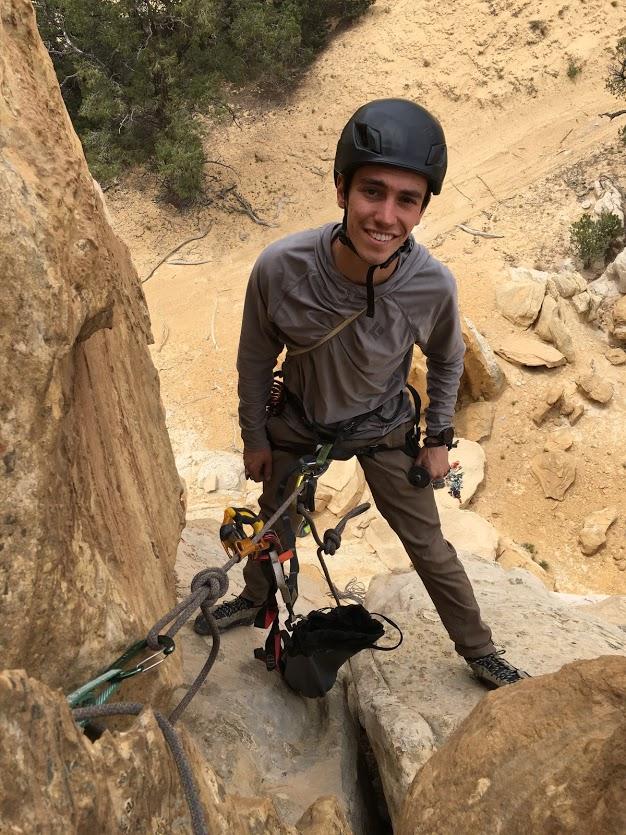 Ari sandy climbing
