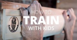 how to train for climbing with kids
