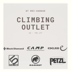 REI Climbing Outlet banner