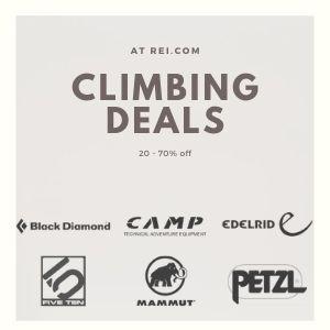 REI Climbing deals banner