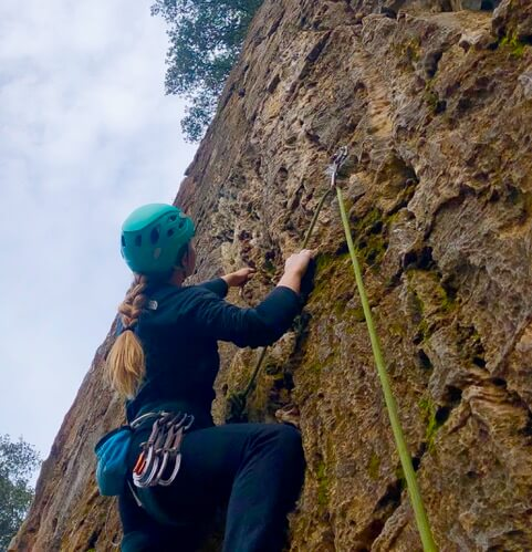 Climbing with the Petzl Borea Helmet
