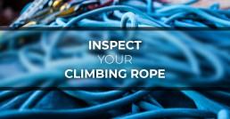 Header Inspect Climbing Rope