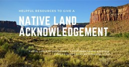 Native Land Acknowledgement header