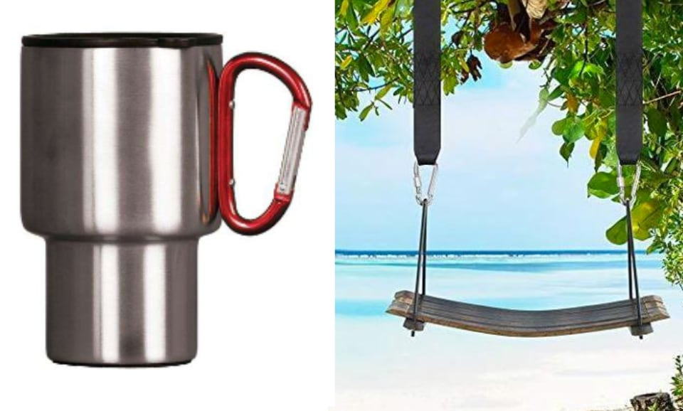 upcycle carabiners mug handle swing